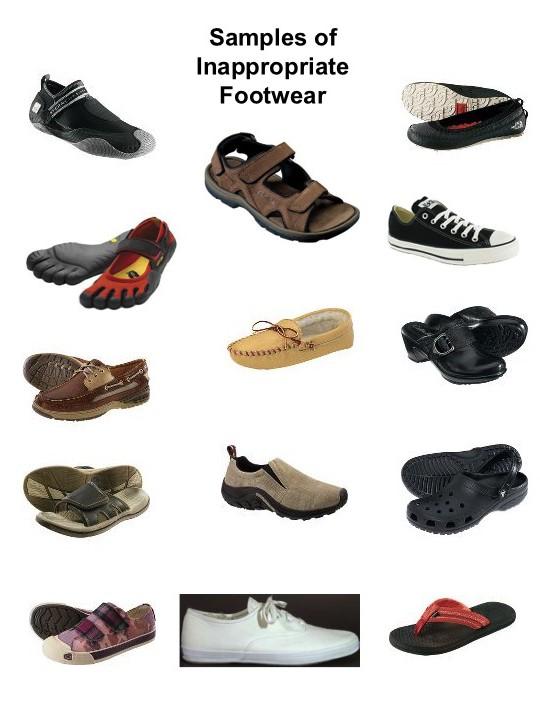 Inappropriate Footwear