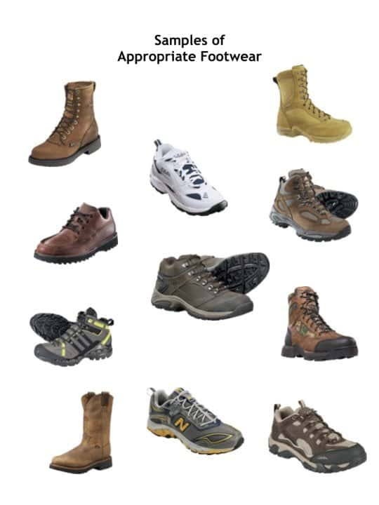 Proper Footwear for petro tours